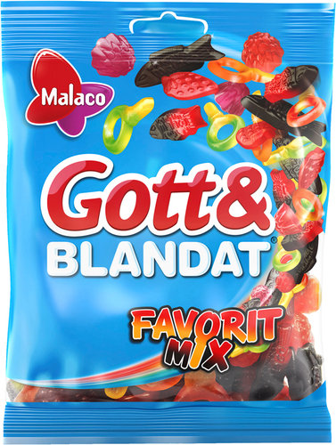MALACO Gott & blandat Favorit Mix, 140g