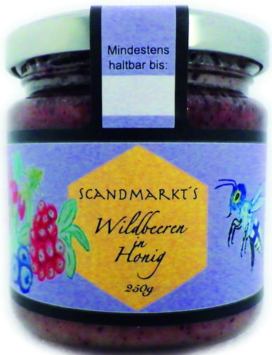 "Wildbeeren in Honig ""Scandmarkt´s Honig Editionen"" 250g"